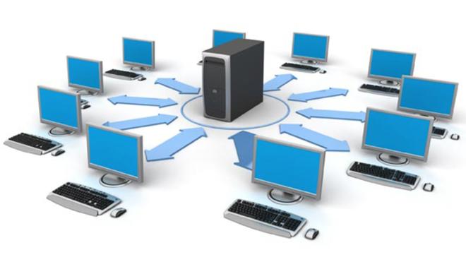 Как устроена локальная сеть с выделенным сервером?